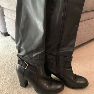 Marc Fisher Kessler black leather boots